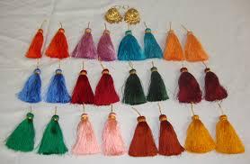 lotan earrings punjabi lotan jhumka set of 12 mulicolor phuman tassles latkan