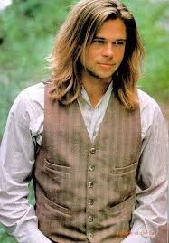 brad pitts haircut in seven more brad pitt with long hair this is from legends of the fall i