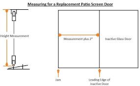 Replacement Patio Screen Doors Sliding Patio Screen Door Measurement The Home Depot Community