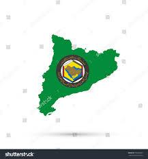 gulf logo vector catalonia map cooperation council arab states stock vector