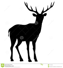 silhouette of deer royalty free stock images image 14152329