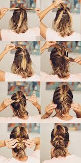 best 25 french braid short hair ideas on pinterest braid short