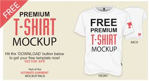 free t shirt template vector mockup vector file