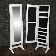 meuble chambre b armoire à bijoux rangement miroir meuble chambre blanc pratique