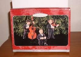 1998 hallmark the three stooges keepsake ornament set new larry moe