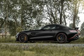diabolique satin black mercedes amg gt s with dragon red stripes