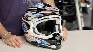 shoei motocross helmet shoei vfx w block pass helmet review at revzilla com youtube