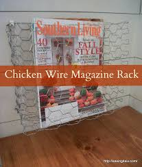 Chicken Wire Chandelier Diy Chicken Wire Magazine Baskets