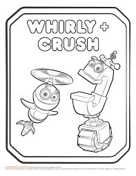 image rusty rivets whirly and crush coloring page png rusty