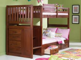 Bunk Beds And Desk Amazon Com Mission Twin Over Twin Staircase Bunk Bed With Trundle