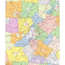 map of atlanta metro area atlanta wall maps zip code maps aero surveys of