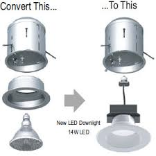 how to convert to led lights simple kit to convert recessed lighting to led my design42