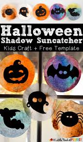 halloween shadow suncatcher craft for kids and free template kids