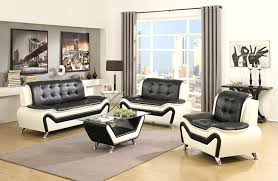 Black And White Sofa Set Designs Amazon Com Us Pride Furniture 3 Piece Modern Bonded Leather Sofa