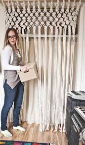 make your own macrame curtain u2013 a beautiful mess