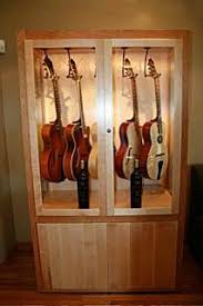 Guitar Storage Cabinet 8 Best Guitar Display Cabinet Images On Pinterest Display
