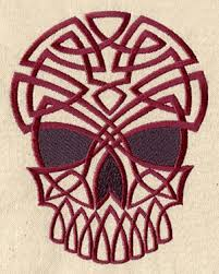 Celtic Skull - celtic skull threads unique and awesome embroidery designs