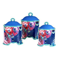 Walmart Kitchen Canister Sets Tracy Porter Reverie 3 Kitchen Canister Set Walmart