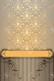 Background Invitation Card Vintage Background With Decorative Ornament And Border Vintage