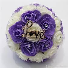 lavender roses lavender roses bridal bouquet 2018 new design gold metal