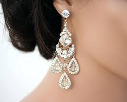Chandelier Earrings Bridal Rose Gold Bridal Chandelier Earrings Gold Bridal Earrings
