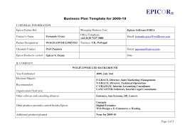 Business Template Plan by Easy Business Plan Template Consciousbeingwellness