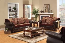 vanity traditional burgundy living room set with pillows sm6107 in