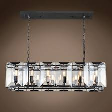 Rectangular Chandelier With Crystals Restoration Revolution Harlow Crystal Rectangular 12 Light 40