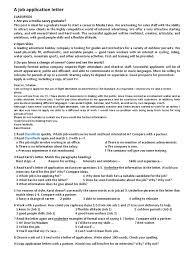 a letter of application communication labour
