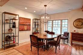 Chandeliers For Dining Room Traditional Sphere Chandelier Dining Room Traditional With Beige Wall Brown