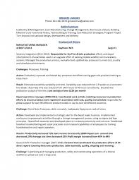 template sample production manager resume