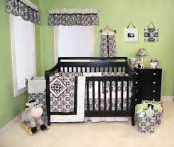 Black And White Crib Bedding For Boys Trend Lab Versilles Black White Collection Baby Care