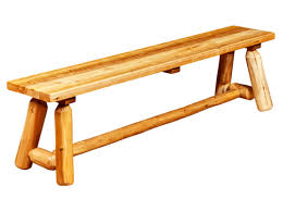 Rustic Wooden Bench Log Furniture U0026 Railing Rocky Top Furniture