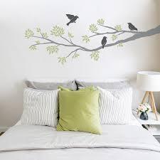 three birds on a branch wall decal bird wall decals artequals three birds on a branch wall decal