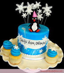 winter wonderland penguin cupcake topper celebration cakes