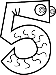 number animals black white svg colouringbook org