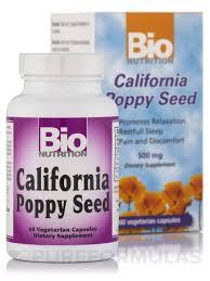 poppy seed 500 mg 60 vegetarian capsules