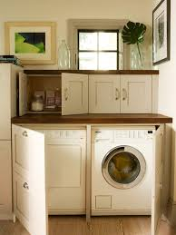 Cover Kitchen Cabinets Hidden Washer And Dryer Design Ideas