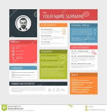 Cv Resume Example by Cv Resume Template Stock Vector Image 50593221