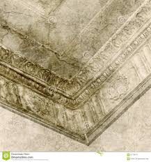 ceiling with decorative molding and vintage wall stock image