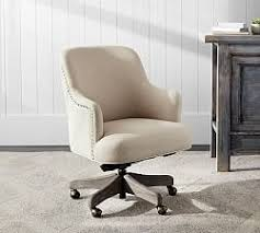 linen desk chair desk chairs home office chairs pottery barn