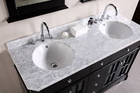 Black Bathroom Vanity With White Marble Top by Furniture Attractive Bathroom With Double Sink Vanities