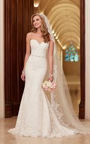 ivory lace wedding dress lace satin wedding dresses stella york