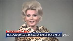hungarian american actress zsa zsa gabor died at 99 youtube