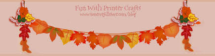 thanksgiving printable garland decoration for room