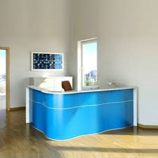 L Shape Reception Desk Wave Storage Reception Desk By Mdd Luxemoderndesign