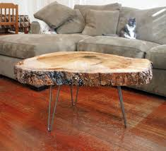 tree ring coffee table live edge maple and epoxy table