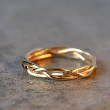 braided wedding band 14k solid gold braided ring wedding band anniversary band