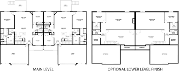 town home plans melrose duplex floorplan hubbell homes building new homes in