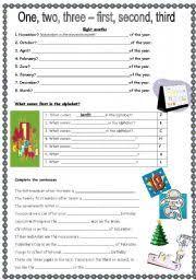 ordinal numbers worksheet by schnuffi